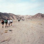 Trekking Along the Dry River Bed
